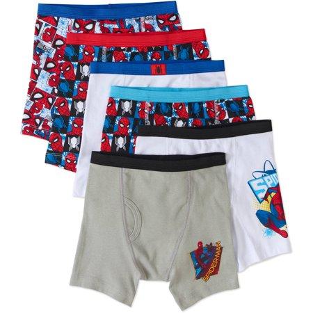 Spiderman Boys Cotton Boxer Briefs  5 Pack   1 Free Bonus Pair