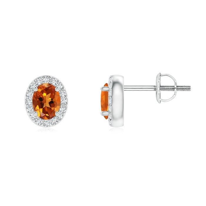Angara Screwback Citrine Stud Earrings in White Gold V7VhFt4nh