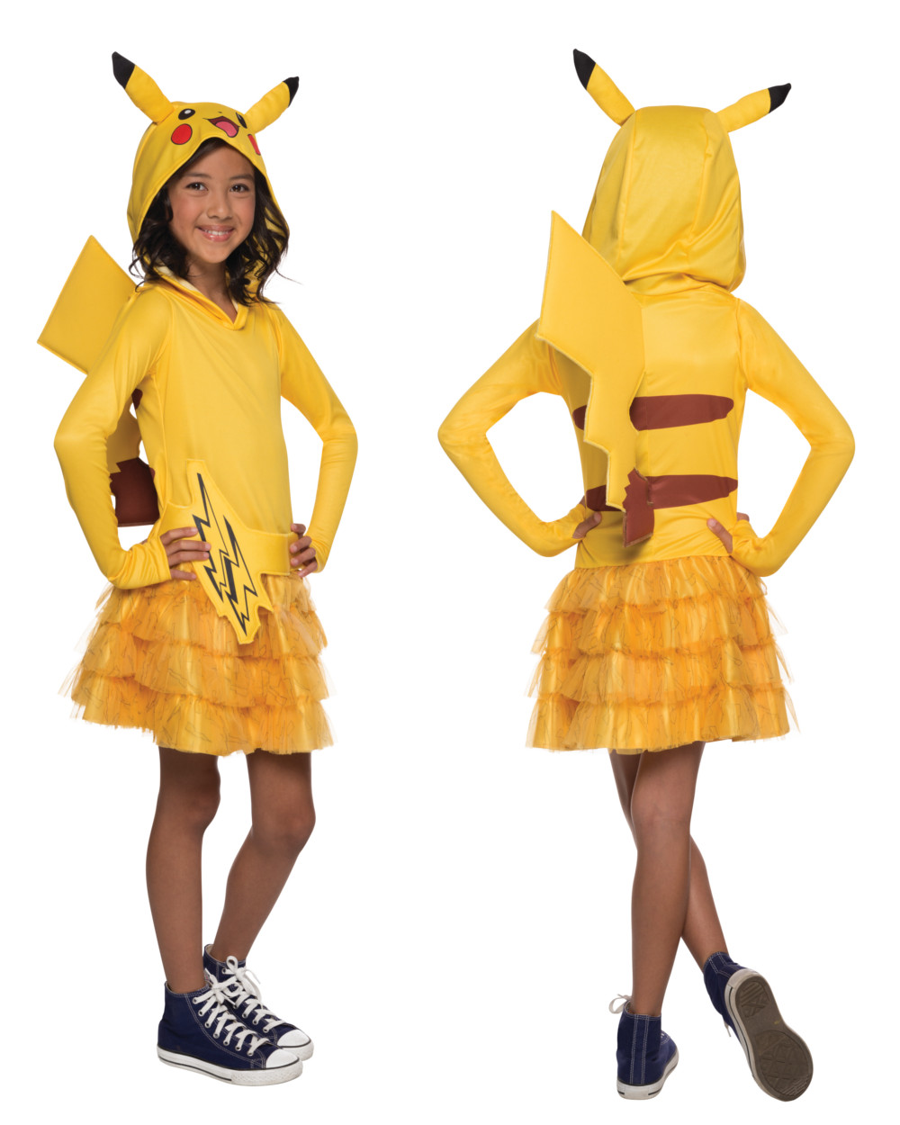 Pokemon: Girls Pikachu Hoodie Dress - Small - Walmart.com