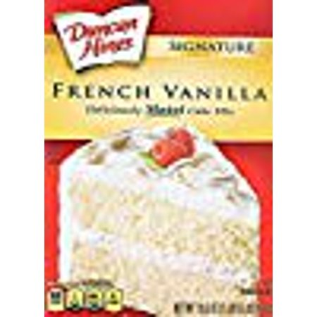 - Duncan Hines Signature French Vanilla Cake Mix, 16.5-Ounce Boxes (Pack of 3)