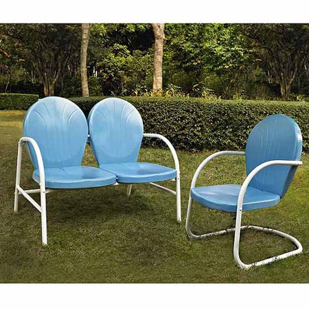 Crosley Furniture Griffith 2 Piece Metal Outdoor