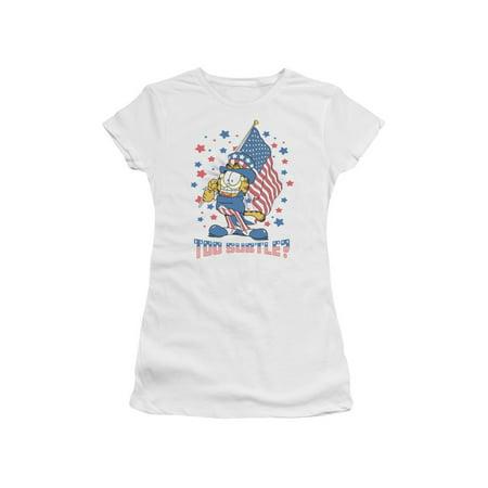 Garfield Newspaper Comic Cartoon Character Too Subtle? Juniors Sheer T-Shirt - Too Sheer