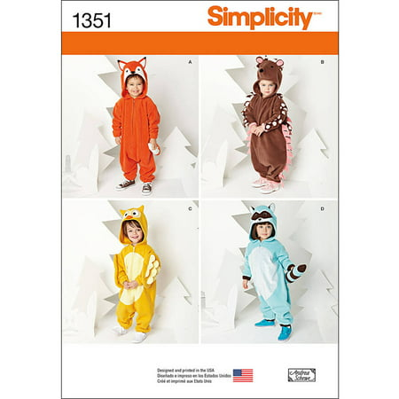 Simplicity Childs' Size 0.5-4 Costumes Pattern, 1
