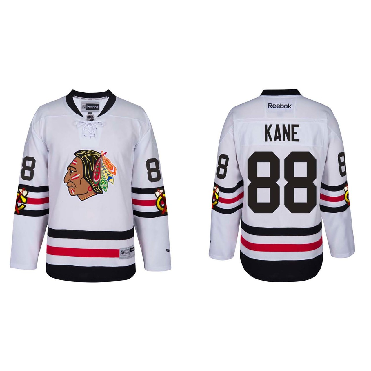 Chicago Blackhawks Adult Patrick Kane 2017 Winter Classic Premier Jersey - Team Color #88