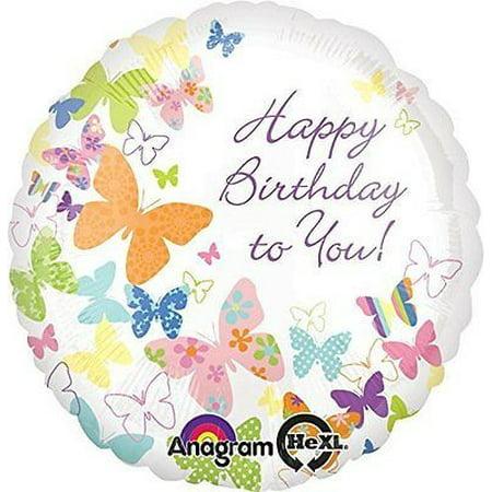 Anagram International Birthday Butterflies Balloon  18  Multicolor