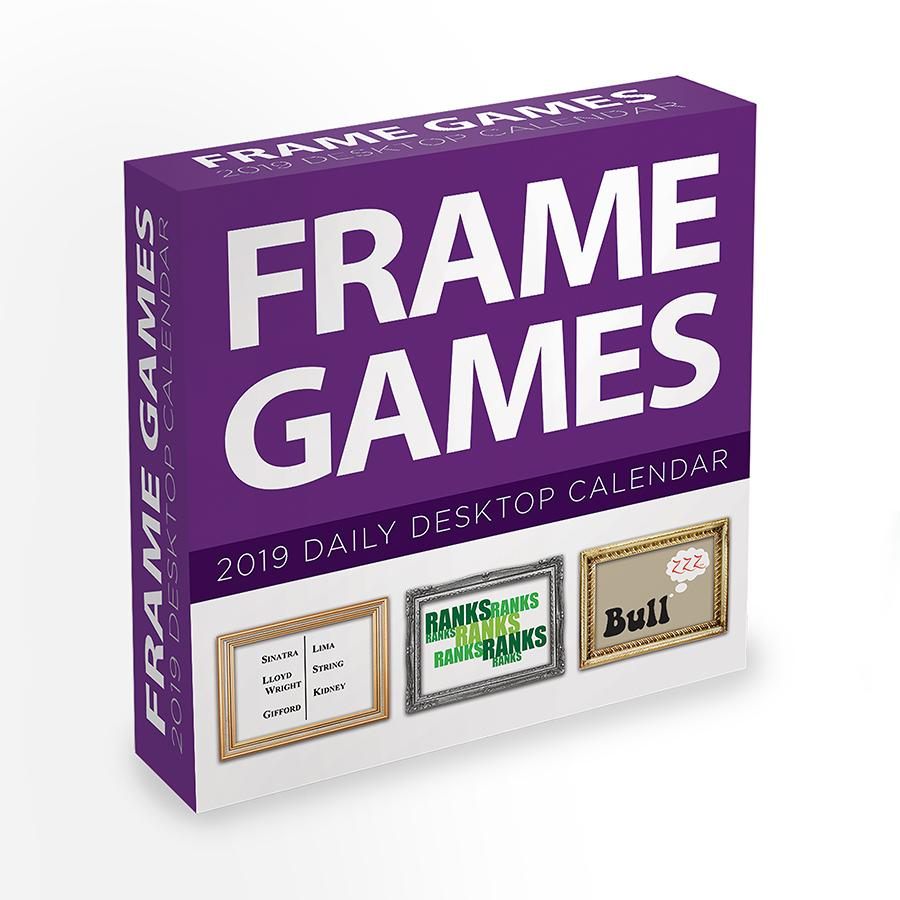 "2019 Frame Games 5.5"" x 5.5"" January 2019-December 2019 Daily Desktop Calendar by TF Publishing"