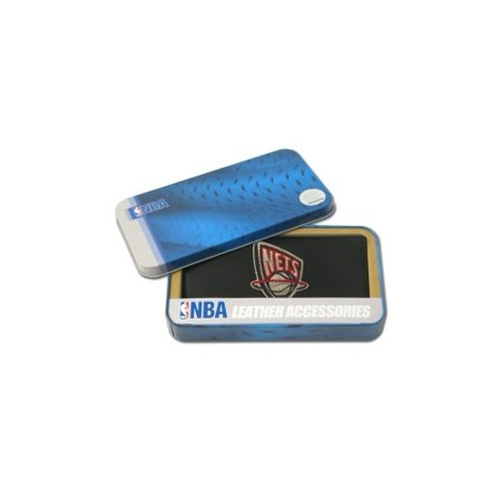 Embroidered Leather Jersey - New Jersey Nets Official NBA  Embroidered Leather Checkbook Cover by Rico Industries