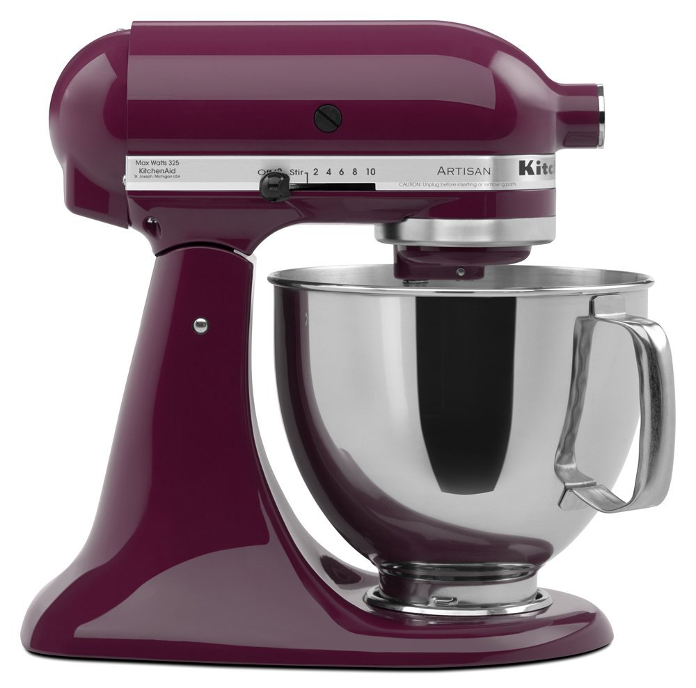 KitchenAid RRK150BY Artisan Series 5 Qt. Stand Mixer Boysenberry (Certified Refurbished)