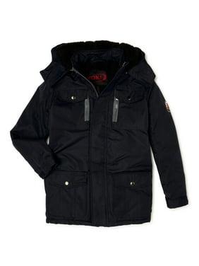 Yoki Boys Hooded Jacket with Sherpa Lined Hood & Zipper Pockets, Sizes 8-20