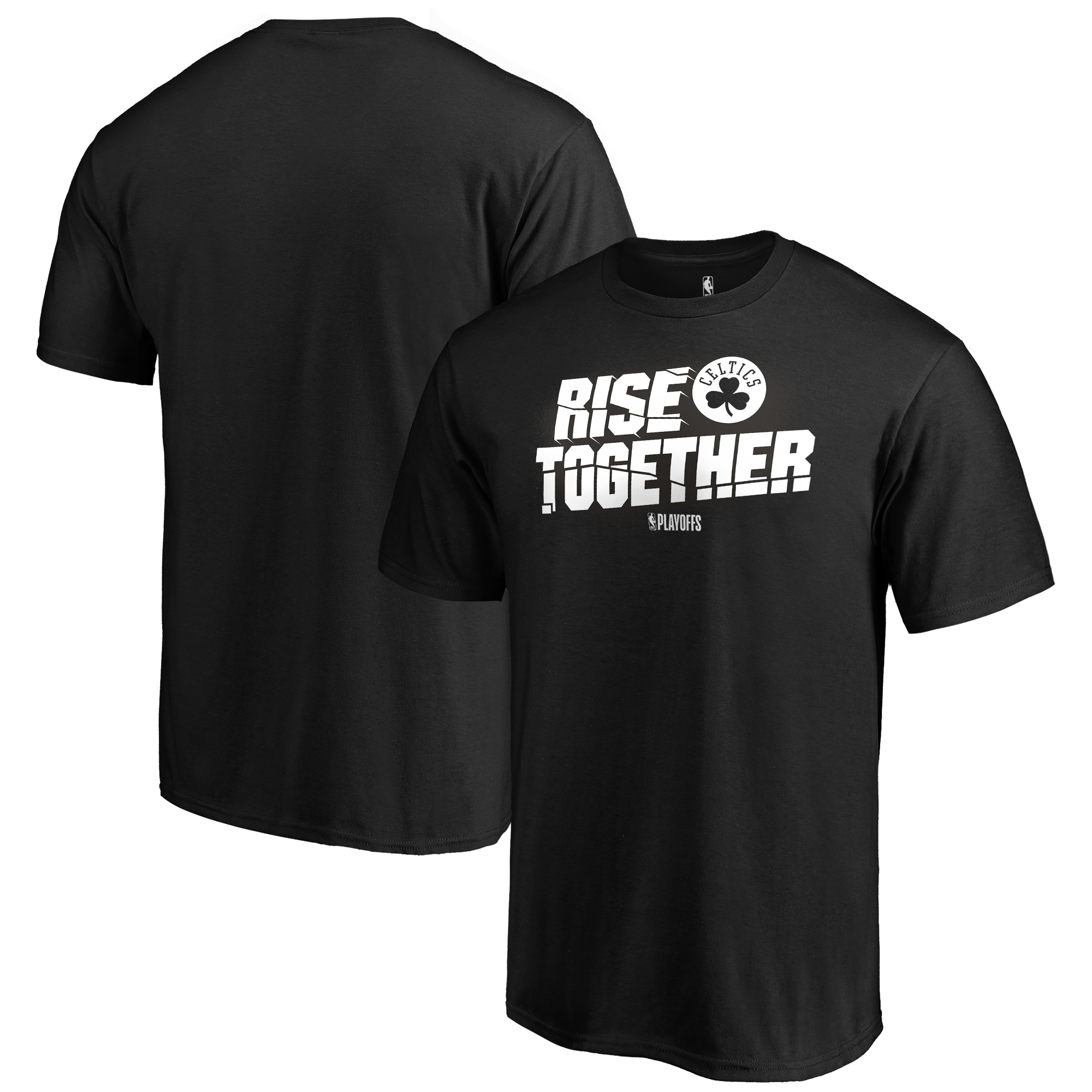 Boston Celtics Fanatics Branded 2019 NBA Playoffs Bound Tip Off Dunk Big & Tall T-Shirt - Black