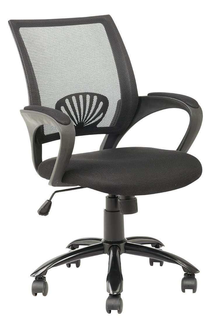 Gentil Mid Back Mesh Ergonomic Computer Desk Office Chair, Black   Walmart.com