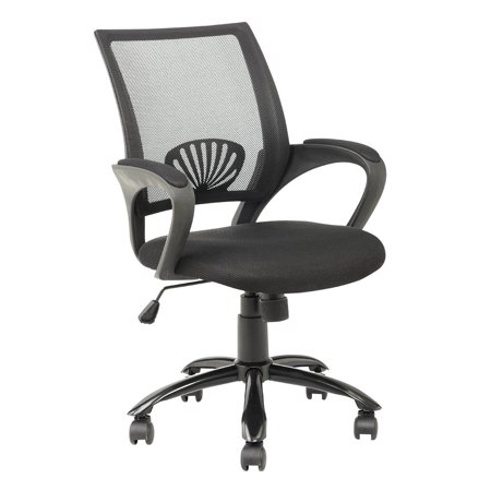 Mid Back Mesh Ergonomic Computer Desk Office Chair Black