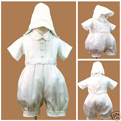 New White Short Rompers 4 Baby Toddler Boy Christening Baptism 0-30M(0 1 2 3 - Baptism Or Christening
