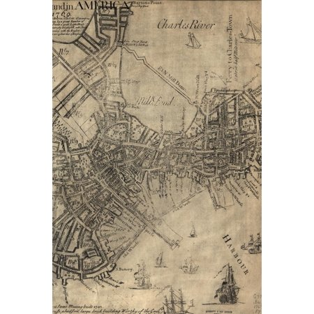 Poetose Notebooks: Boston: A new plan of ye great town of Boston in New England in America with the many additionall buildings & new streets, to the year, 1769