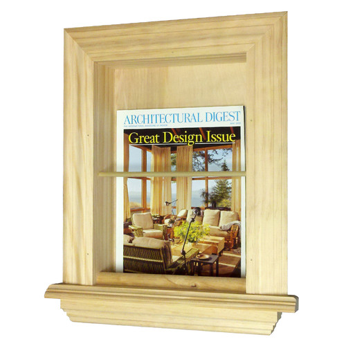 WG Wood Products In the Wall Magazine Rack by WG Wood Products