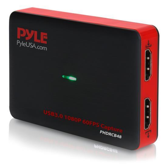 Pyle PHDRCB48 HDMI Video Capture Device, Live Streaming Record Capture