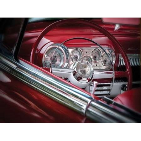 Cherry Red Interior Poster Print By Dennis Frates