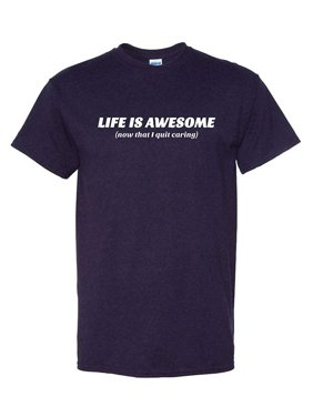 d51ef4af1f Product Image Thread Science Life is Awesome Since I Quit Caring Funny  Humor Tee Pun Graphic Adult Mens