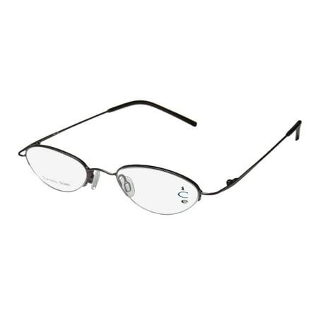 New Ice 28 Mens/Womens Designer Half-Rim Taupe Stainless Steel Fabulous Classy Trendy Frame Demo Lenses 48-20-135 Eyeglasses/Glasses