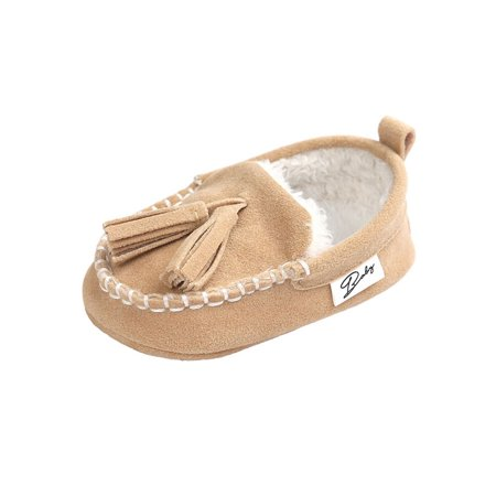 Lavaport Winter Baby Infant Suede Tassel Peas Shoes Newborn Moccasins Princess Baby First Walkers