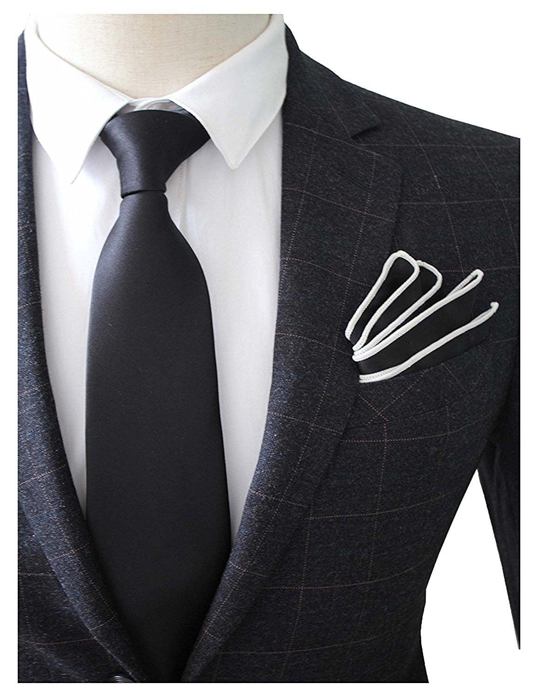 Mens Tie Wholesale Wedding Groomsman Solid Tie Skinny Ties Lot of 5
