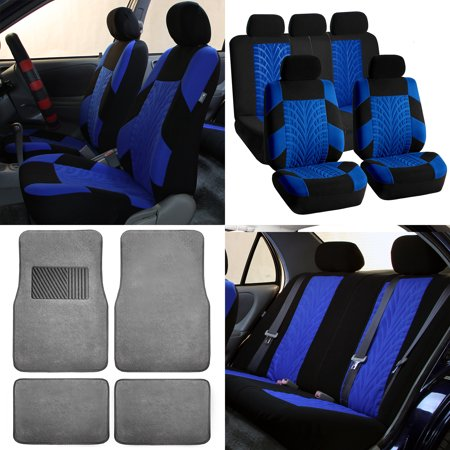 Pleasing Fh Travel Master Car Seat Covers For Auto Complete Seat Covers Set With Gray Premium Carpet Floor Mats Blue Black Pdpeps Interior Chair Design Pdpepsorg