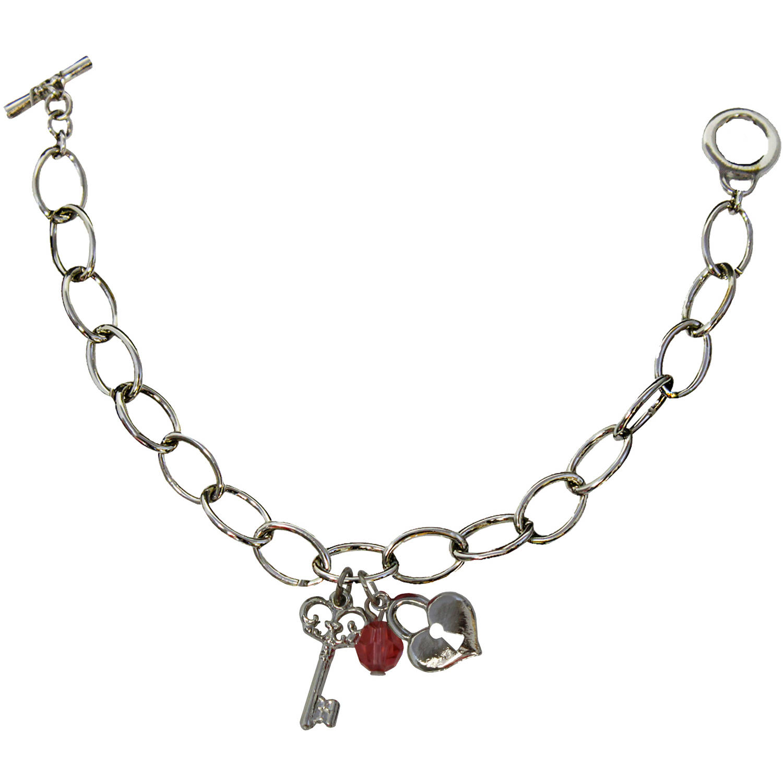 Gloria Duchin Lock and Key Charm Bracelet