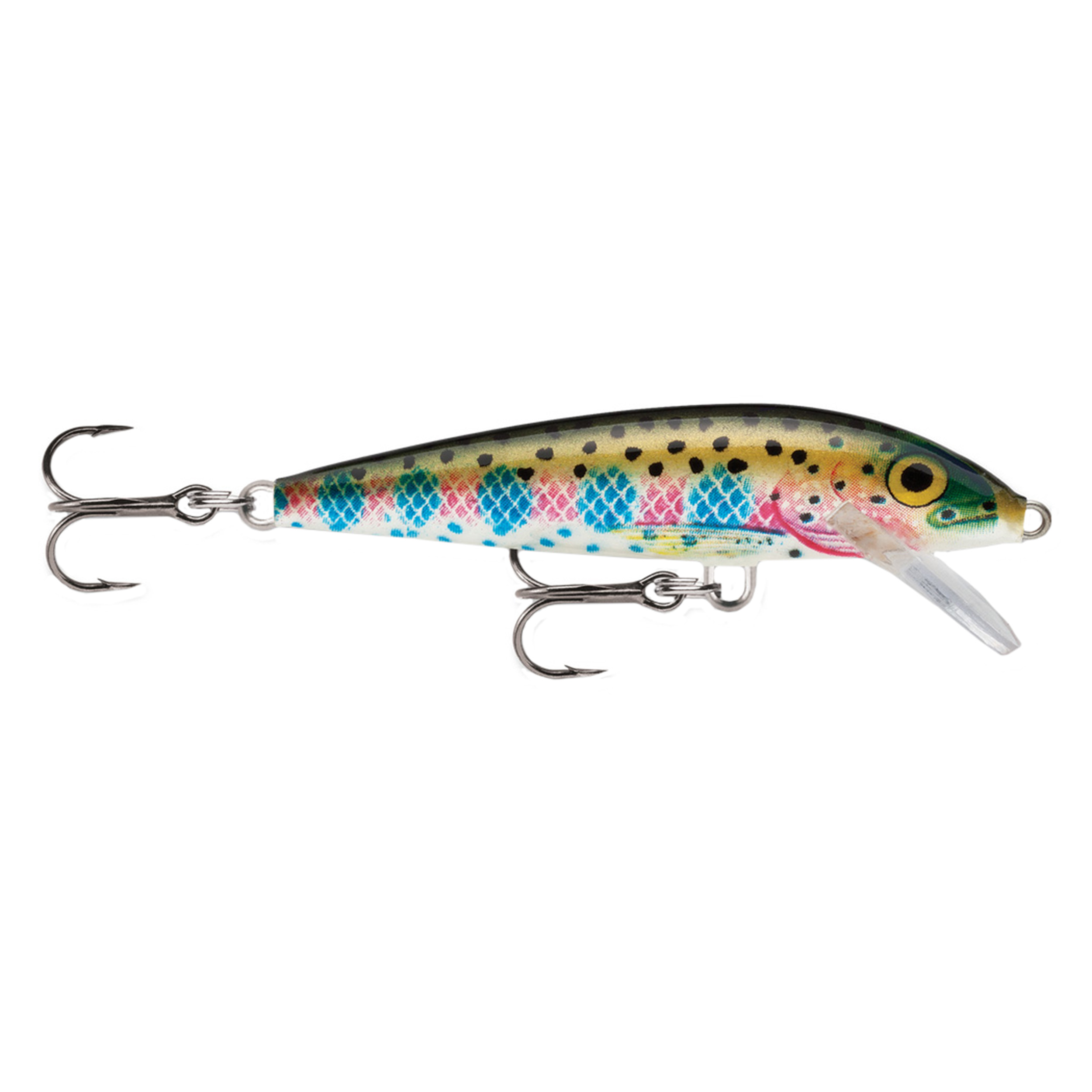 "Rapala Original Floating Lure Size 07, 2 3 4"" Length, 3'-5' Depth, 2 No 7 Treble Hooks, Rainbow Trout, Per 1 by Rapala"