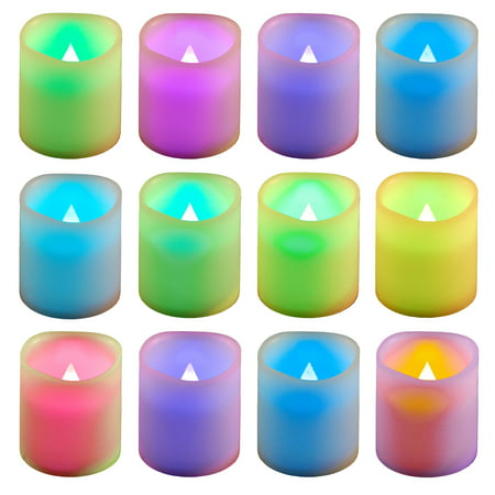 Lumabase Battery Operated LED Votive Candles, 12-Count