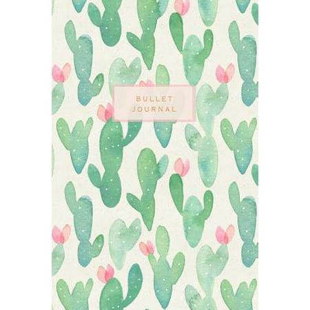 Bullet Journal : Cactus Design Bullet Journal - Dot Grid Notebook - Graphic Design Journals