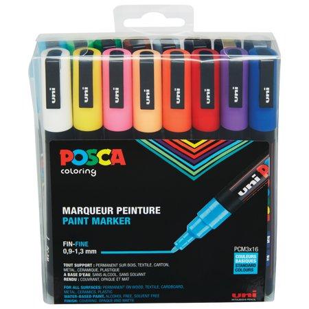 Posca 16-Color Paint Marker Set, PC-3M Fine