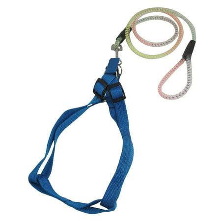 (Unique Bargains Unique Bargains Adjustable Pet Harness Halter Crystal Plastic Rope Puppy Dog Leash)