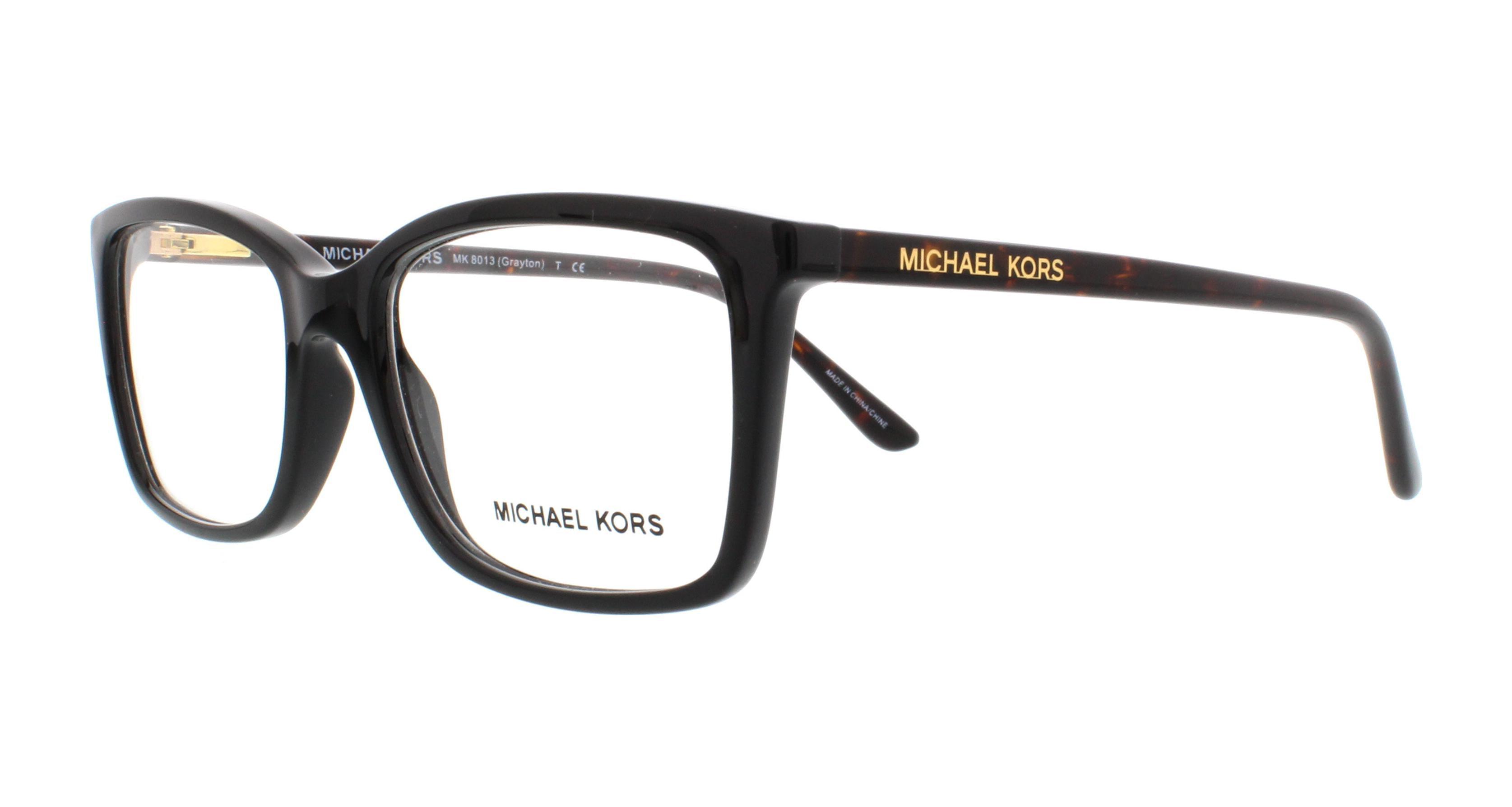 michael kors eyeglasses mk8013 grayton 3056 black tortoise 51mm walmartcom - Michael Kors Eyeglasses Frames