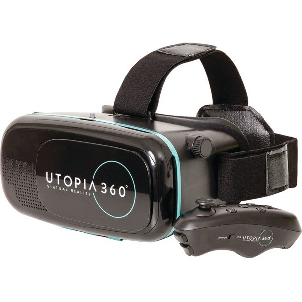 ReTrak Utopia 360 VR Headset + Bluetooth Controller For (Refurbished)