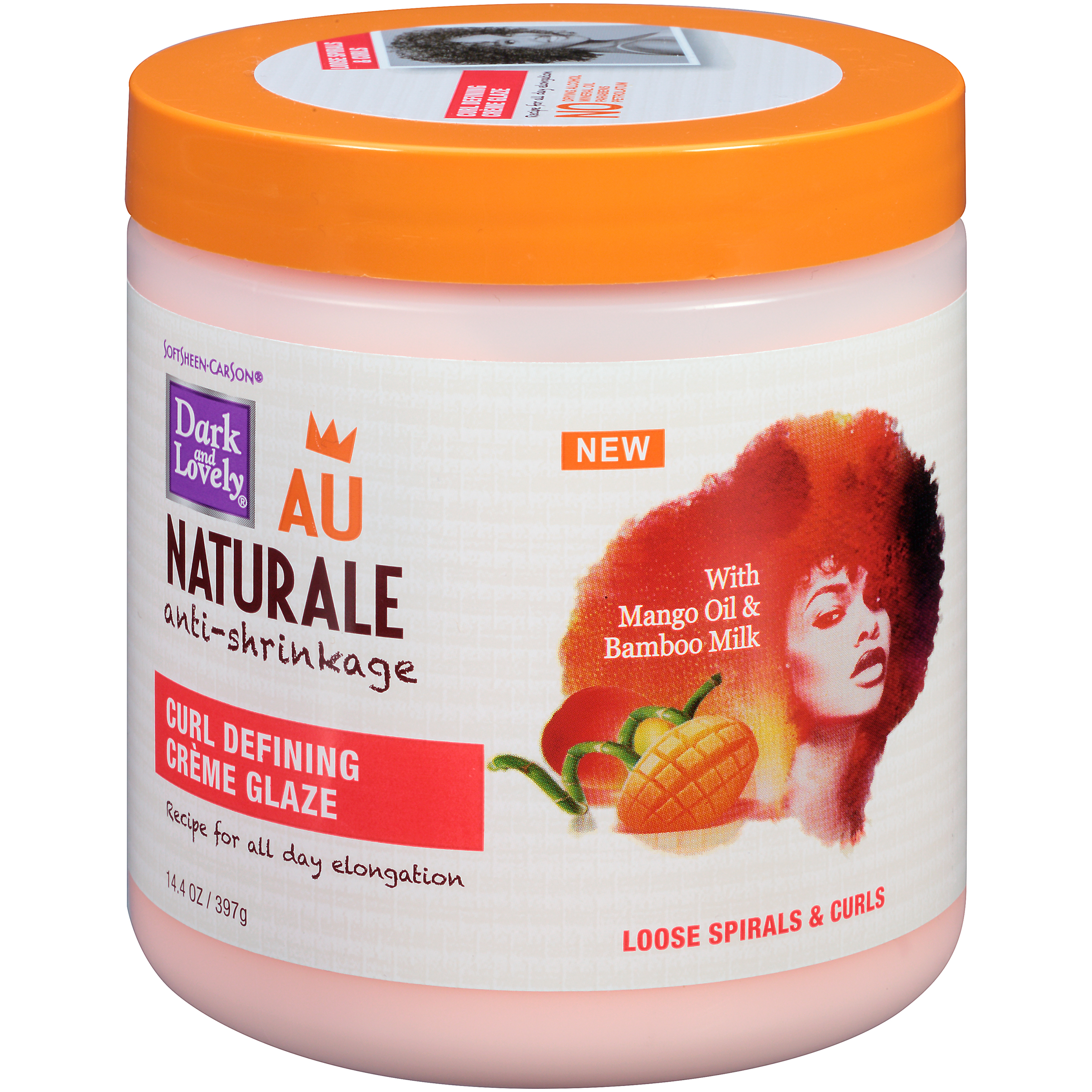 SoftSheen-Carson Dark and Lovely Au Naturale Anti-Shrinkage Curl Defining Creme Glaze, 14.4 oz