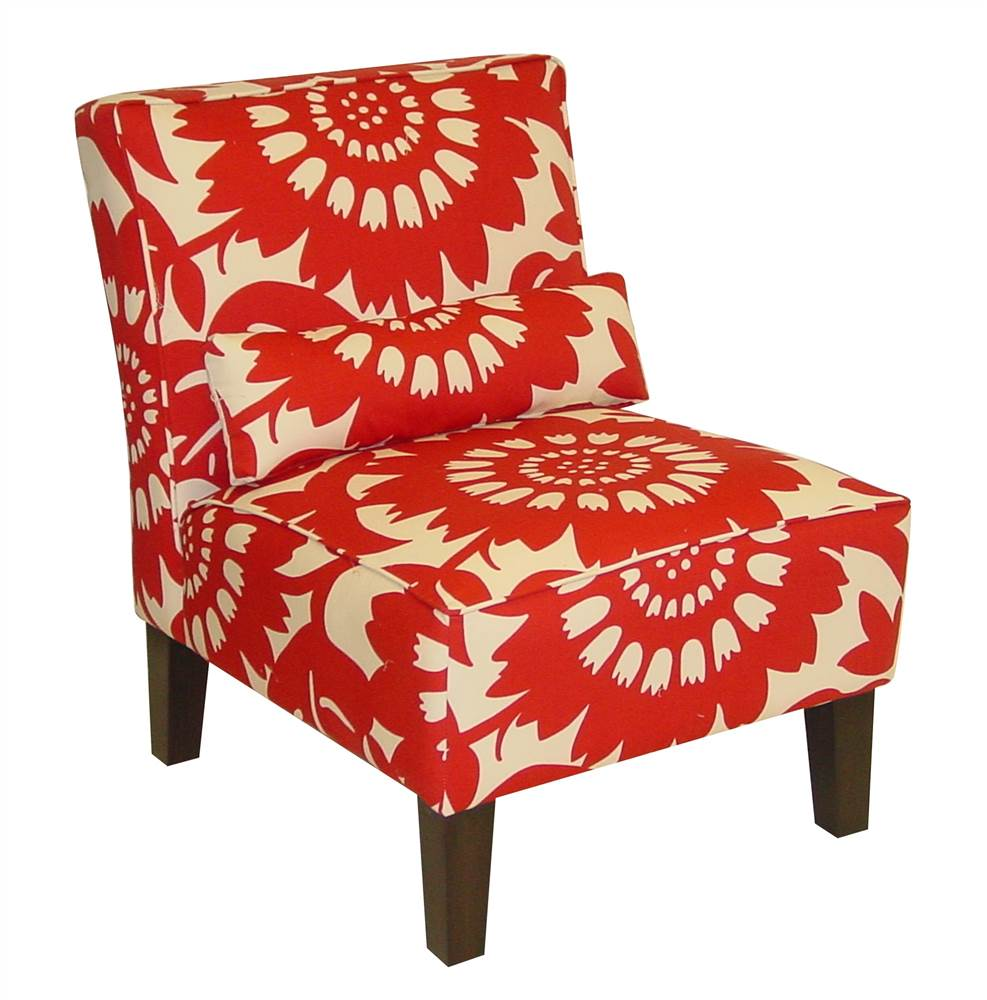 Gerber Accent Chair in Crimson