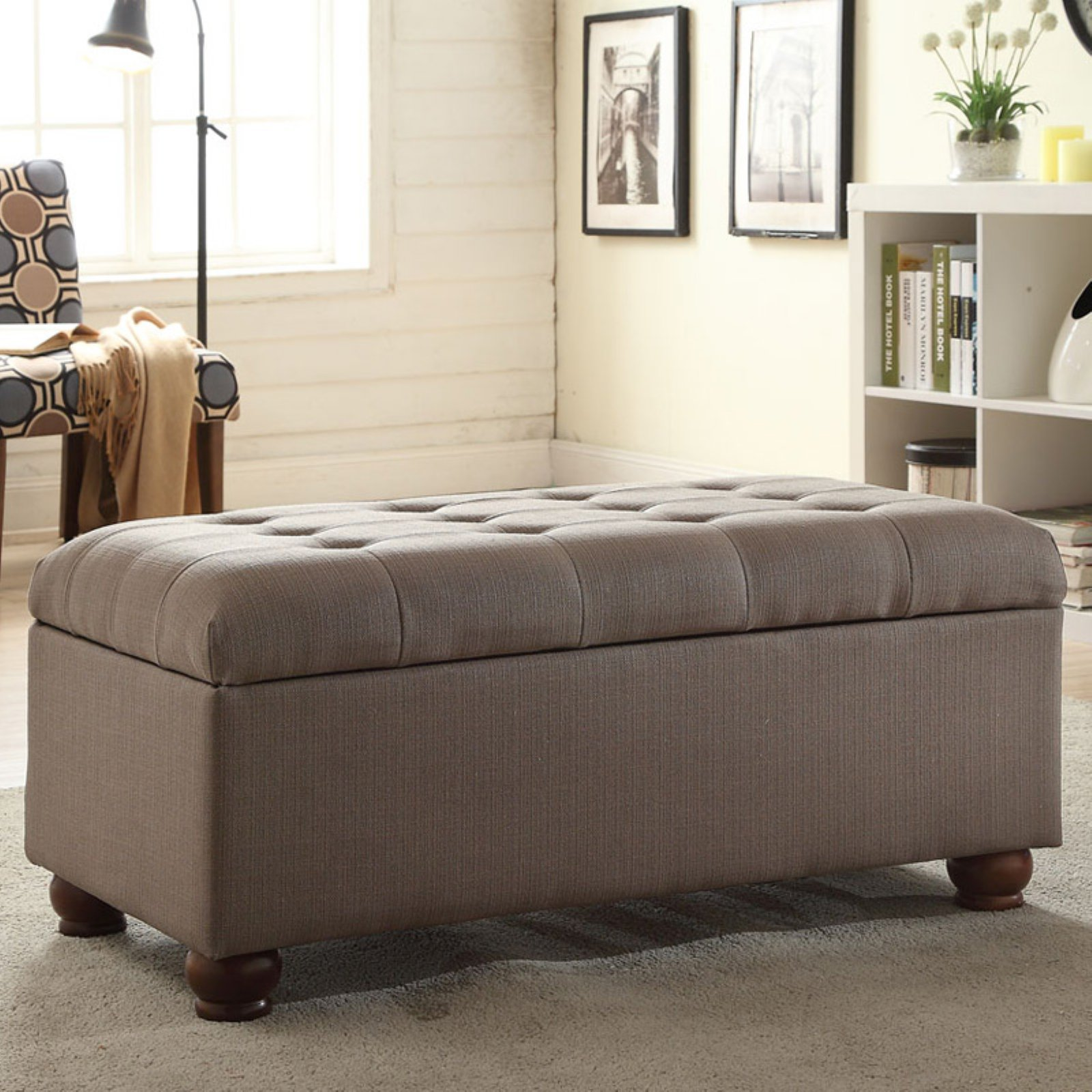 Kinfine USA Large Tufted Storage Bench