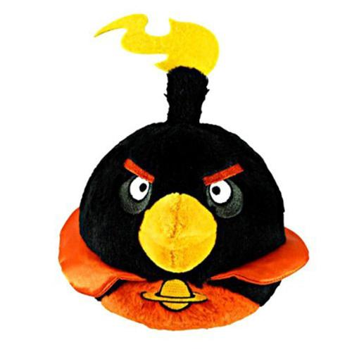 "Angry Birds 5"" Black Space Bird Plush Officially Licensed by Commonwealth Toys"