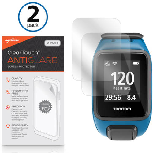 BoxWave ClearTouch Anti-Glare Anti-Fingerprint Matte Film Skin for TomTom Spark