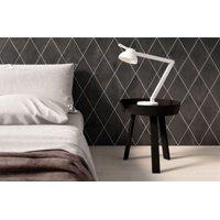 "Allora 7.38"" x 12.75"" Rhombus Porcelain Floor & Wall Tile in Solid Black (9.46 SqFt/Ctn)"