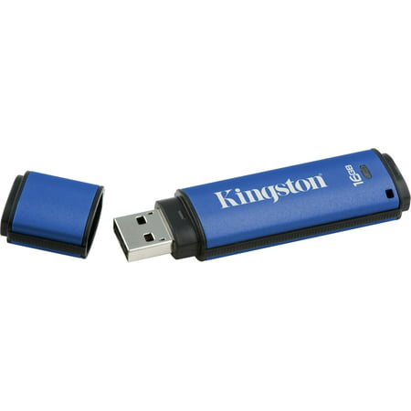 Kingston Data Traveler AES Encrypted Vault Privacy 16GB 256Bit USB 3.0 Flash Drive - DTVP30/16GB