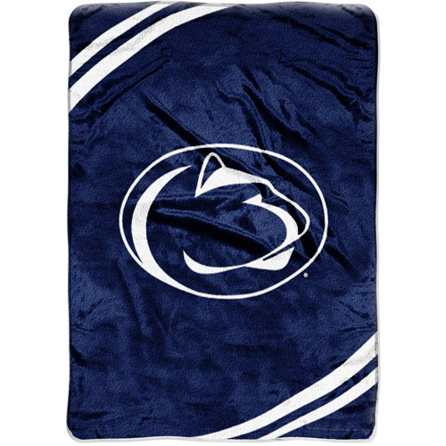 Penn State Nittany Lions NCAA Raschel Plush 60 x 80 Force Series Throw Blanket