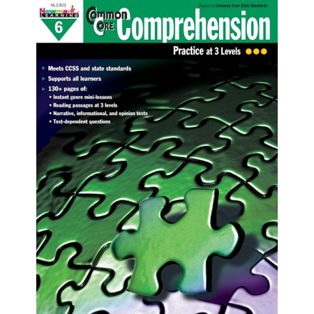 Newmark Learning Common Core Comprehension Reproducible Book, Grade 6
