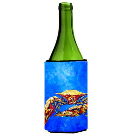 Blue Crab on Blue Sr. Wine Bottle Beverage Insulator Hugger MW1187LITERK