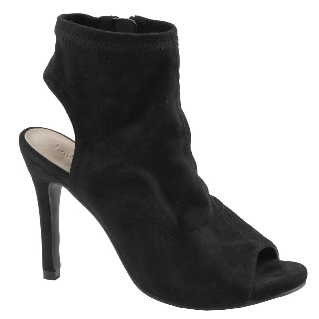 374a90f30144 LOVMARK FL47 Women s Backless Side Zip Stiletto Heel Dress Ankle ...