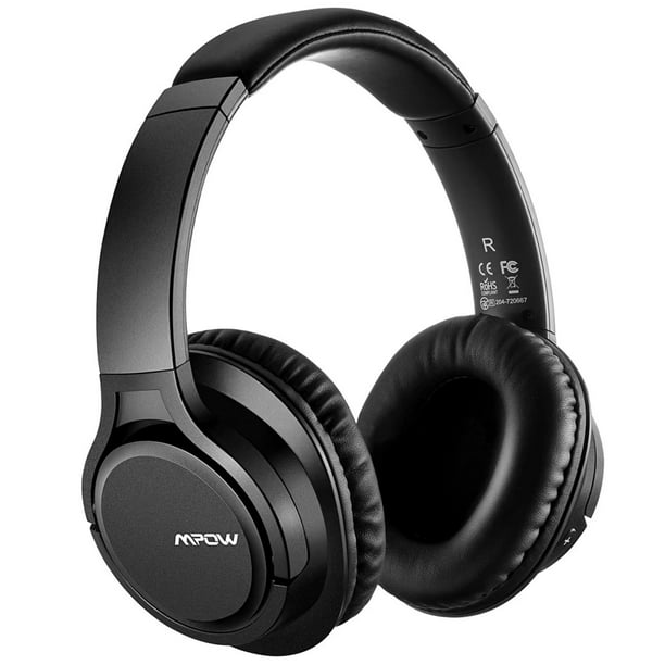 Mpow H7 Bluetooth Headphones Over Ear Stereo Wireless Headset With Microphone Comfortable Memory Protein Earpads 18 Hours Playtime Wired And Wireless Headphones For Cellphone Tablet Black Walmart Com Walmart Com