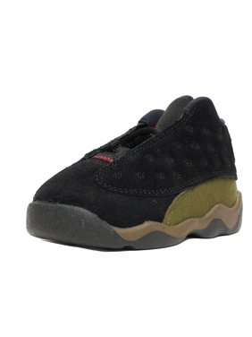 857681e31f3484 NIKE AIR JORDAN 13 XIII RETRO BT TD SZ 4 C TODDLER OLIVE BLACK RED 414581