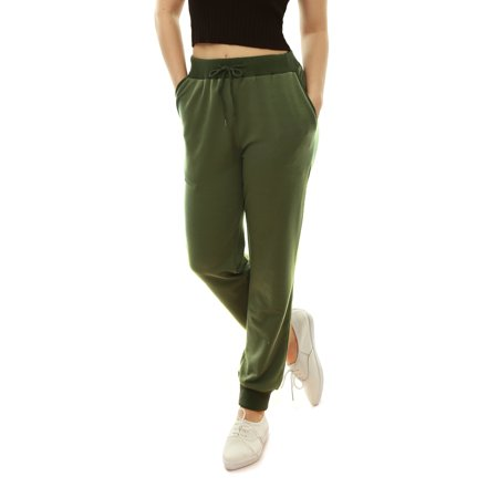 Image of Allegra K Women's Drawstring Waist Slant Pockets Sport Pants