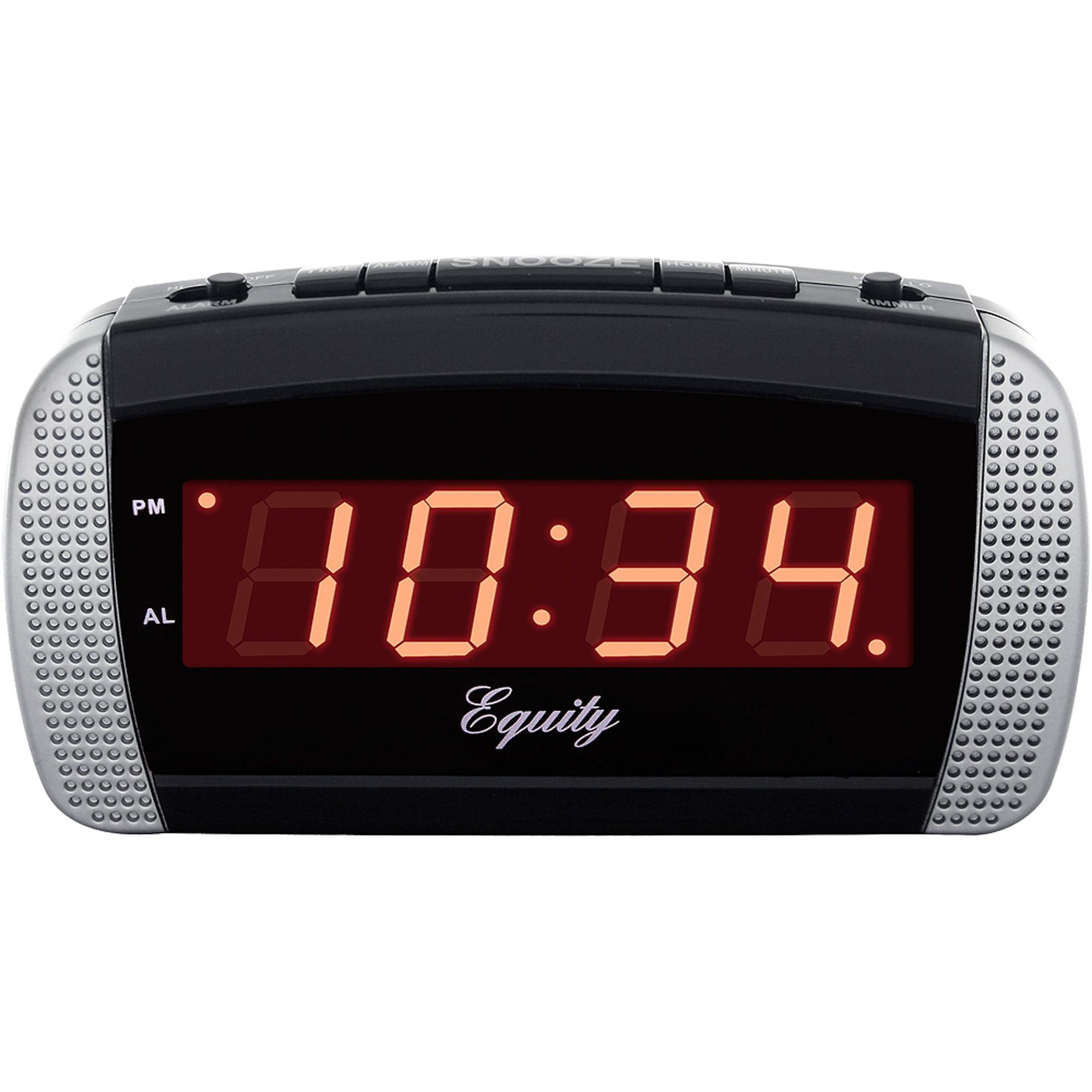 la crosse technology color alarm clock with indoor temperature and usb port. Black Bedroom Furniture Sets. Home Design Ideas