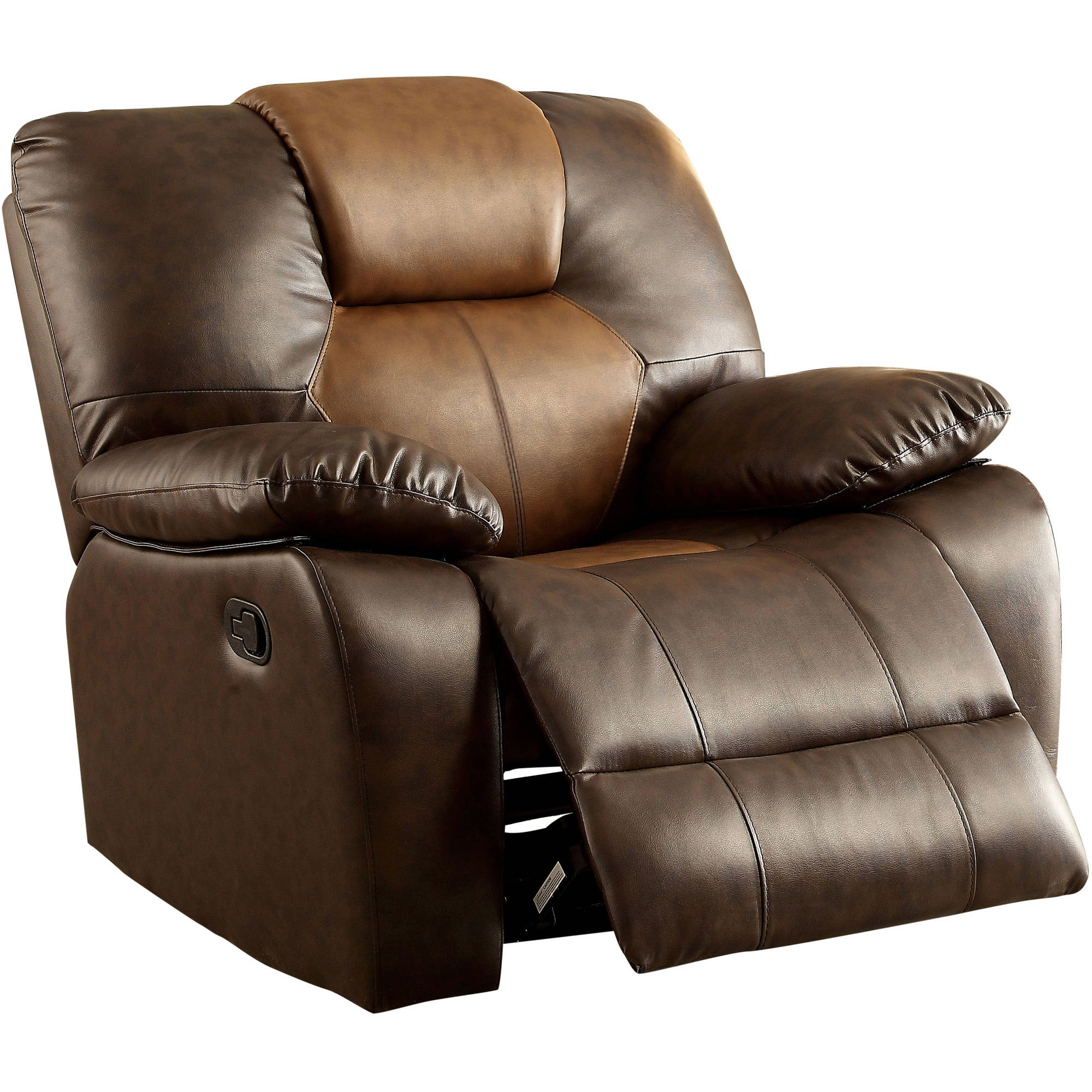 Furniture of America Genna Swivel Glider Recliner Brown  sc 1 st  Walmart & Swivel Recliner Chairs islam-shia.org